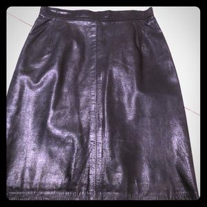 Dresses & Skirts - Vintage faux leather mini.